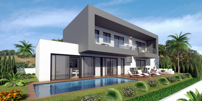 nouvelles villas contemporaines dans la zone de mijas partir de 399 000 euros. Black Bedroom Furniture Sets. Home Design Ideas