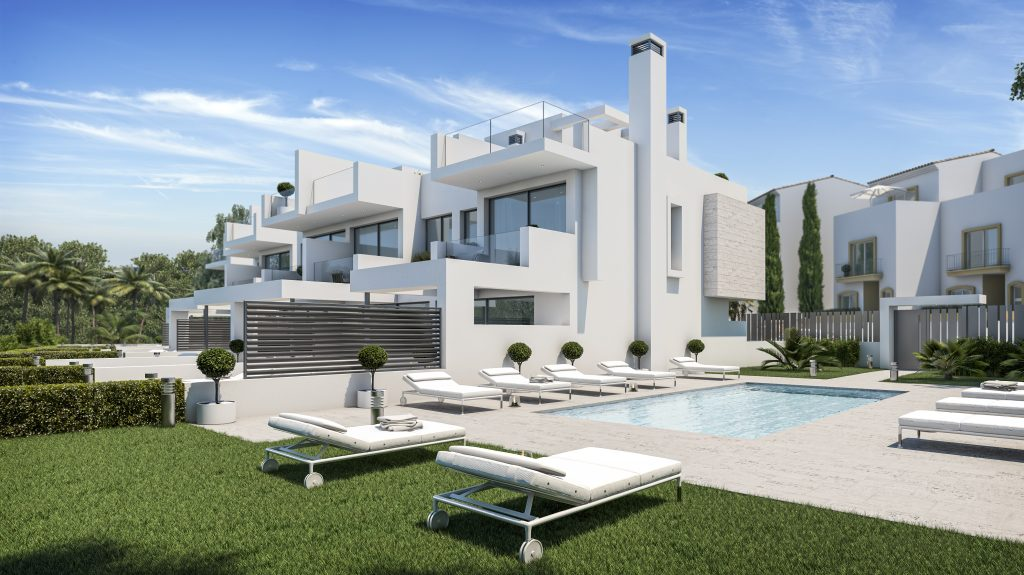 Boutique development of 3 bedroom beachside townhouses at Estepona