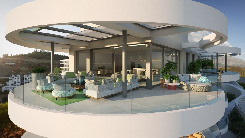 New development of luxury apartments, The View, Marbella