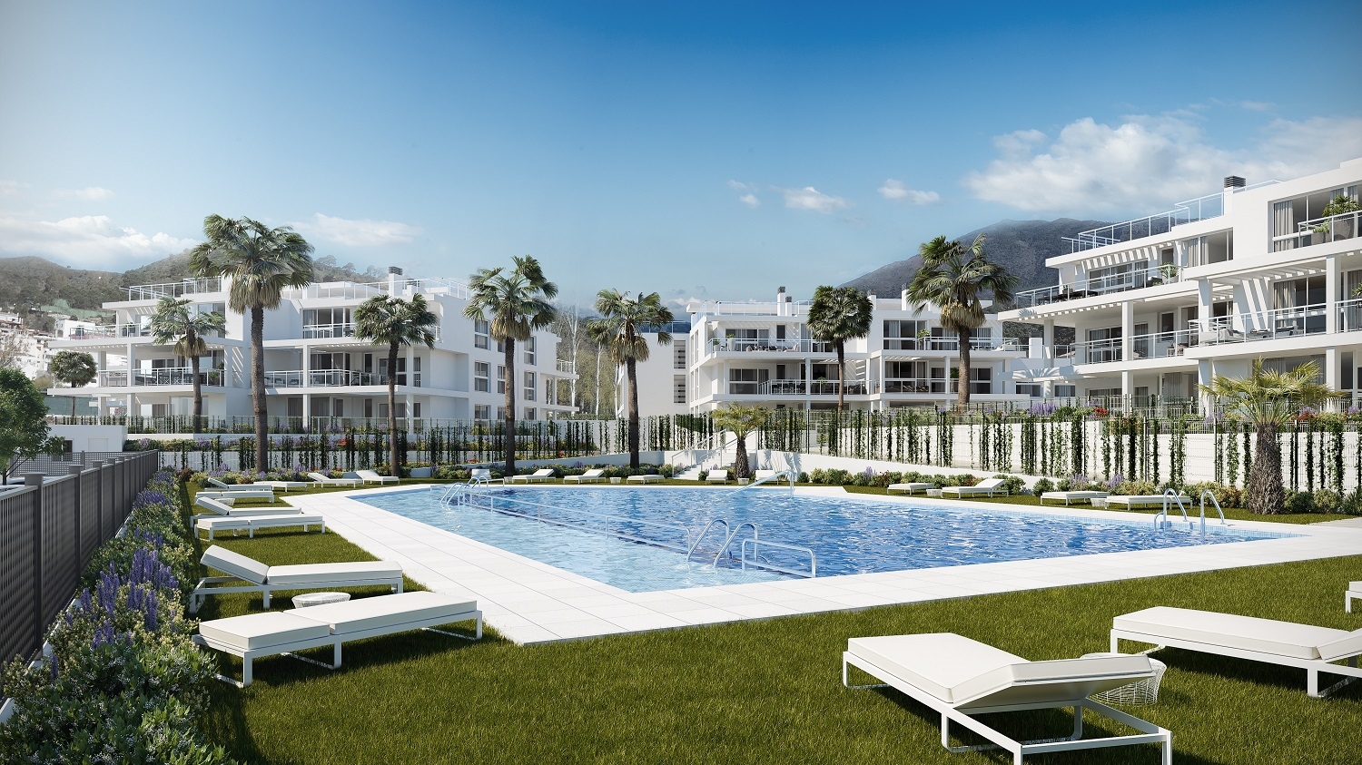 New development of 2 and 3 bedroom apartments at Riverside, Benahavis