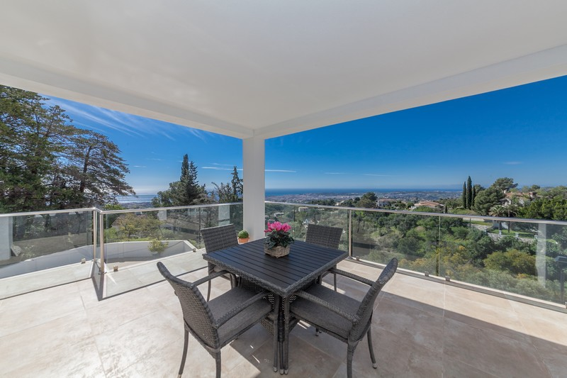 Mijas villa terrace view